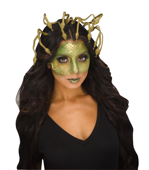 Fun World Medusa Crown Headband Snakes Adult Halloween Costume Accessory