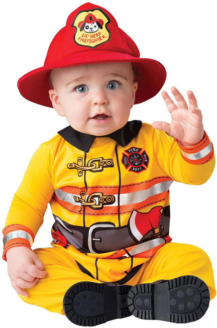 InCharacter Fearless Firefighter Infant Baby Fireman Costume - Yellow