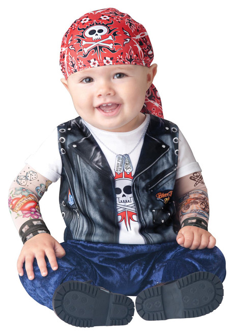 Baby Born to be Wild Biker Costume Baby Boys Halloween Costume Infant Large 18-24M