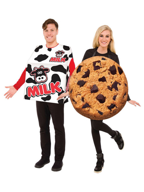 Milk And Cookies Adult Couples Costume Set