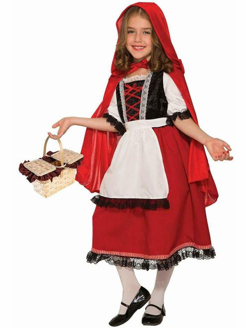 Little Red Riding Hood Storybook Fairy Tale Fancy Dress Halloween Teen Costume