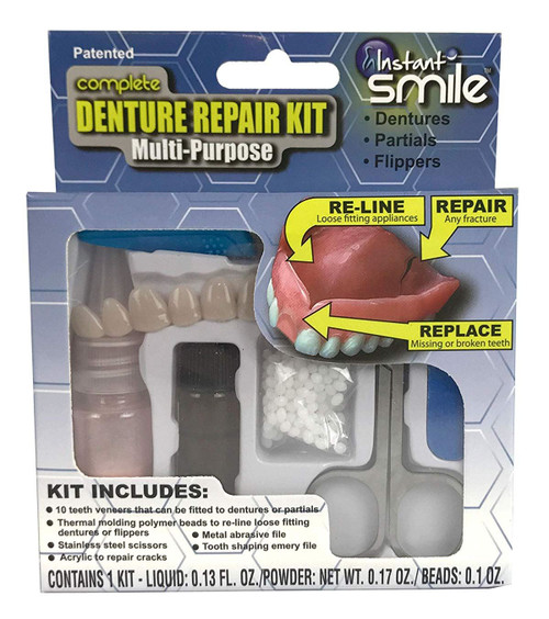 Instant Smile Complete Denture Repair Kit - Multi-Purpose