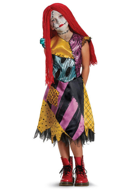 Kids' Deluxe Disney Nightmare Before Christmas Sally Halloween Costume Dress 4-6X