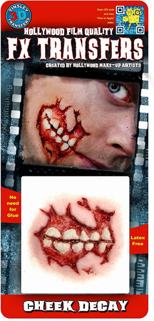 Zombie Cheek Decay 3D Temporary Tattoo Tinsley Transfers