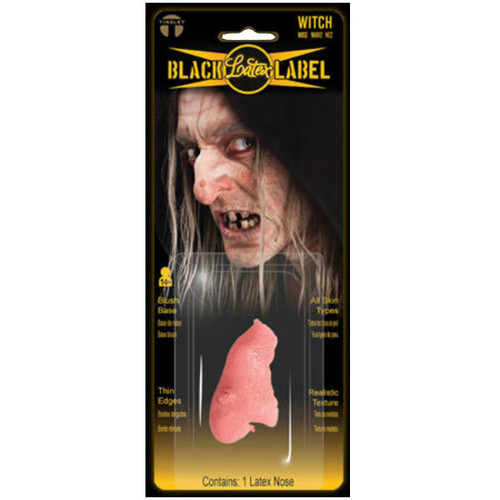 Wicked Witch Nose Halloween Makeup Latex Prosthetic - Black Label