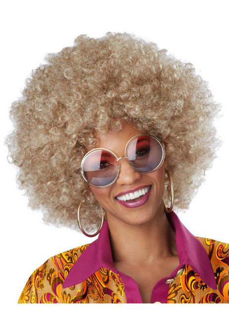 Foxy Lady Dirty Blonde Afro Wig Disco Girl