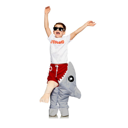 Seeing Red Child Life Guard & Shark Attack Funny Halloween Costume