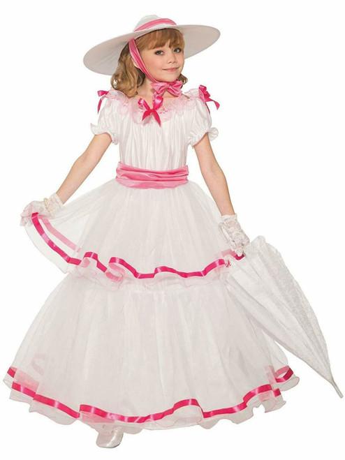 Southern Belle Gone Wind Civil War Western Fancy Dress Halloween Child Costume