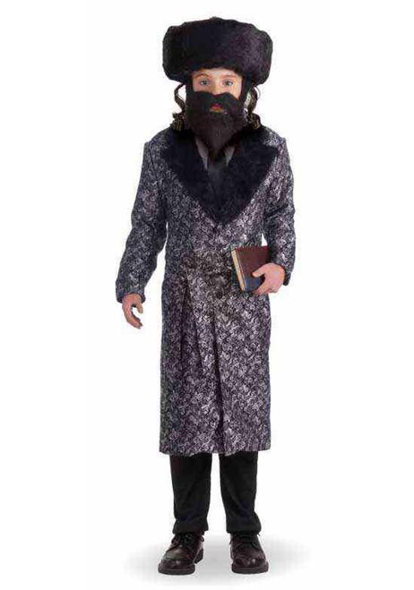 Silver Rabbi Robe Boys Child Spiritual Leader Halloween Costume