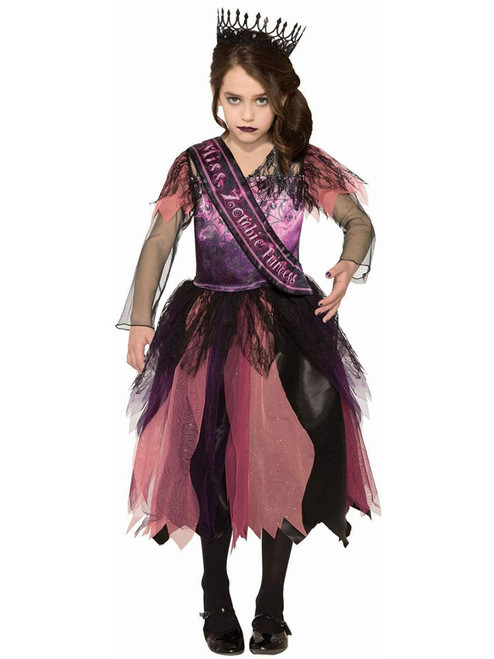 Prom Princess Zombie Girl Ghost Undead Fancy Dress Halloween Child Costume