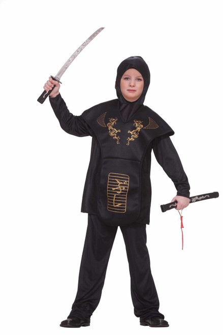 Ninja Boys Classic Halloween Costume Fancy Dress New Kids