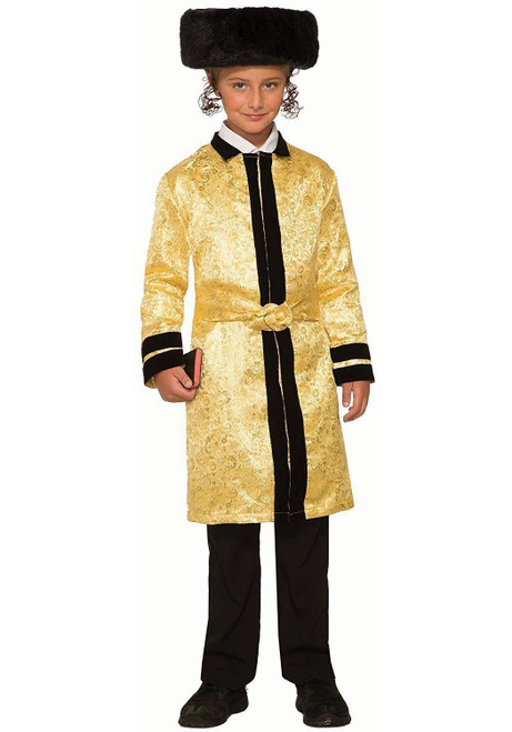 Bekitcha Gold Jewish Rabbi Bekishe Beketshe Fancy Dress Halloween Child Costume