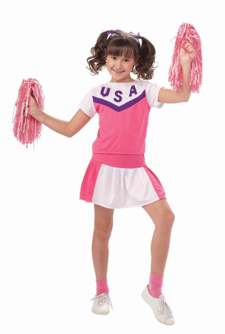Cheerleader Girls Classic Halloween Costume New Dress Fancy Girl Kids
