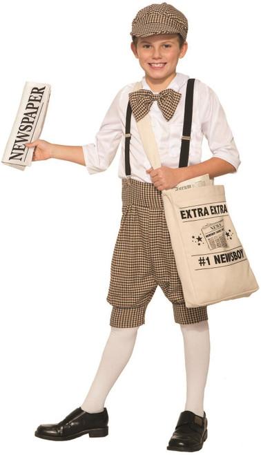 Gatsby 1920'S Newsboy Newsie Boys Child Costume Newspaper Carrier