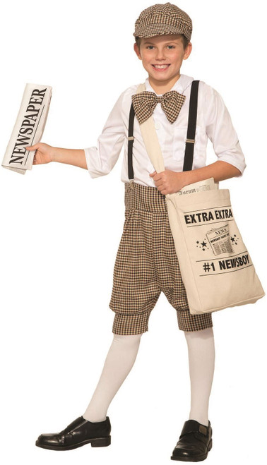 Gatsby 1920'S Newsboy Newsie Boys Child Costume Newspaper Carrier