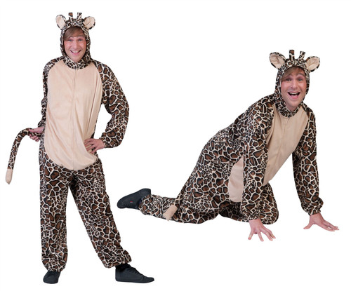 Safari Animal Giraffe Adult Costume Mens Medium