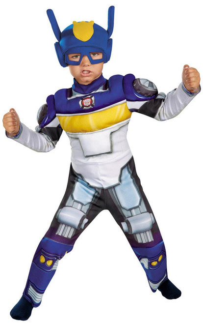 Boy's Transformers Chase Rescue Bots Toddler Muscle Costume Small 4-6