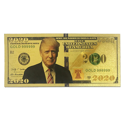 President Donald Trump 2020 Fridge Magnet Gold