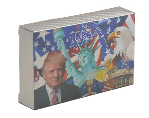 President Donald Trump Playing Cards - Silver Eagle Liberty Playing Cards Deck of Waterproof Poker Cards