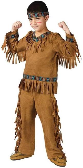 Fun World Native American Boy Costume, Large 12-14, Multicolor