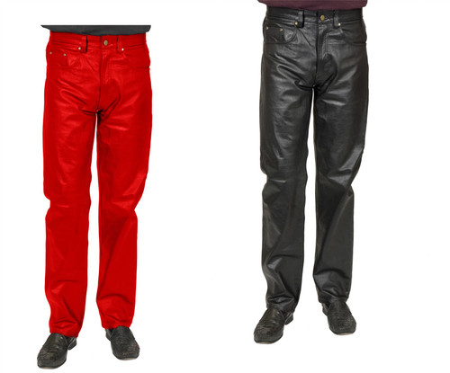 Adult Men's Faux Leather Disco Pants Costume Accessory