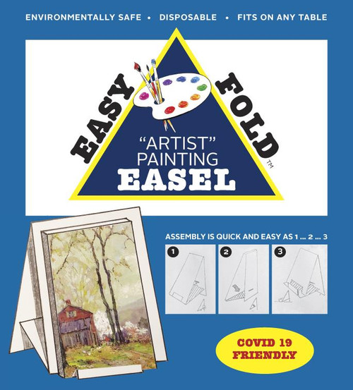 Easy Fold Beginning Artist Easel Lightweight Reusable Easy to Store Recyclable Artists Painting Supplies