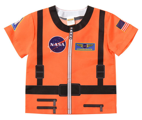 Orange Astronaut Shirt Career Dress up boys kids toddler halloween costume ages 3 5