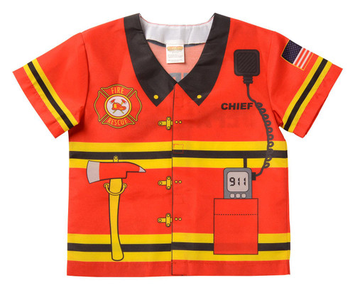 My First Career Fire Fighter Fireman Shirt Toddler Halloween Costume 18-36M