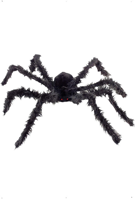 Giant Hairy Spider Black with Light Up Eyes and Bendy Legs