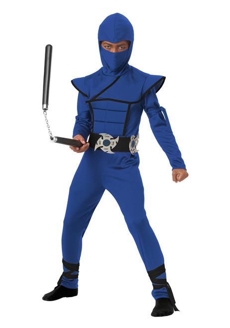 California Costume Collection Child Blue Stealth Ninja Costume