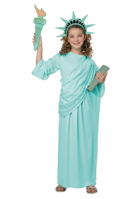 California Costume Collection Statue Of Liberty Costume for Girls
