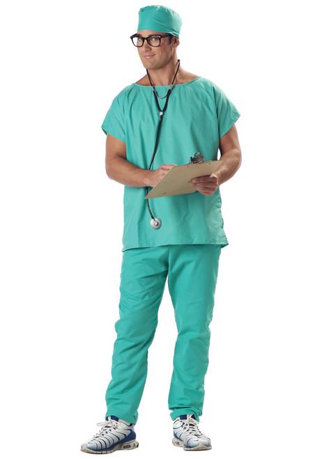Doctors Scrubs Adult Mens Halloween Costume