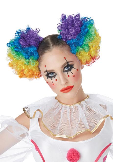 California Costume Collection Clown Rainbow Puffs Wig