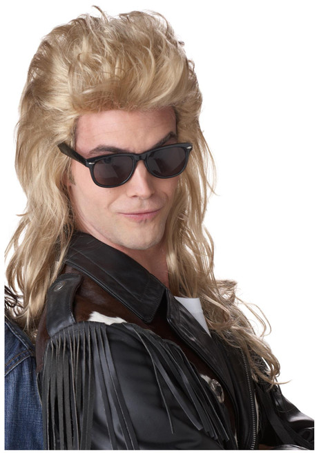 California Costume Collection 80s Blonde Rock Mullet Wig