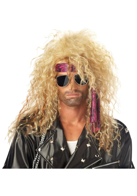 California Costume Collection Blonde Heavy Metal Wig