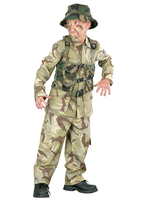 Fun World FW113062 Army Military Delta Force Child Costume