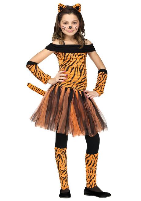 Fun World Womens Girls Tigress Fancy dress costume