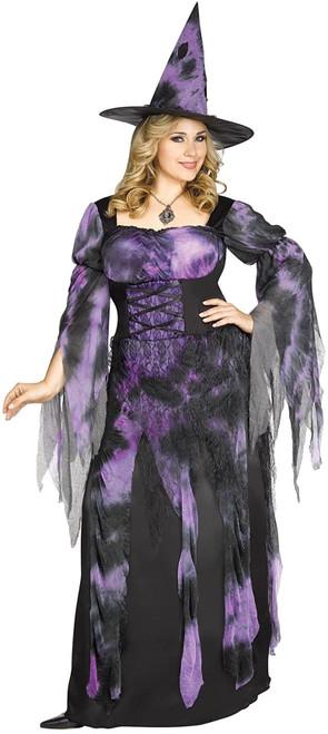 Fun World Women's Plus Size Starlight Witch Costume