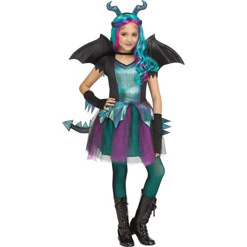 FunWorld Dark Dragon Girls' Halloween Costume Girls