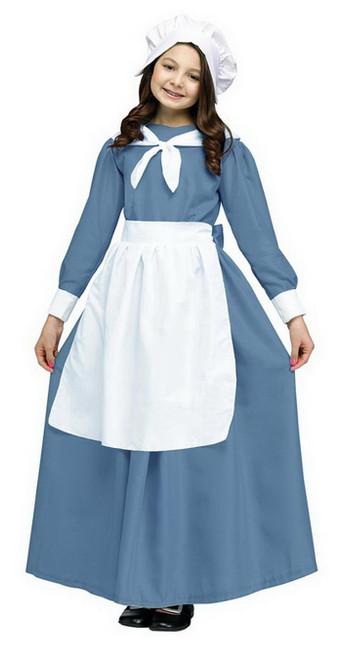 Pilgrim Cap & Apron Adult Costume Kit, One Size