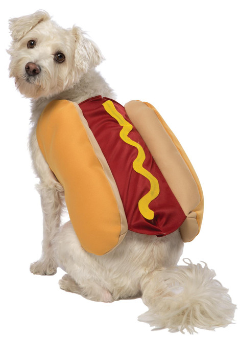Rasta Imposta Hot Dog and Bun Cute Doggie Pet Dog Halloween Costume
