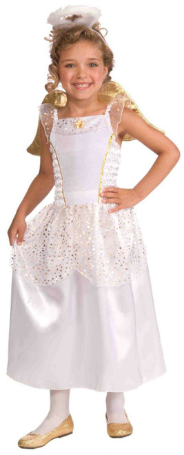 Angel with wings and halo child costume toddler