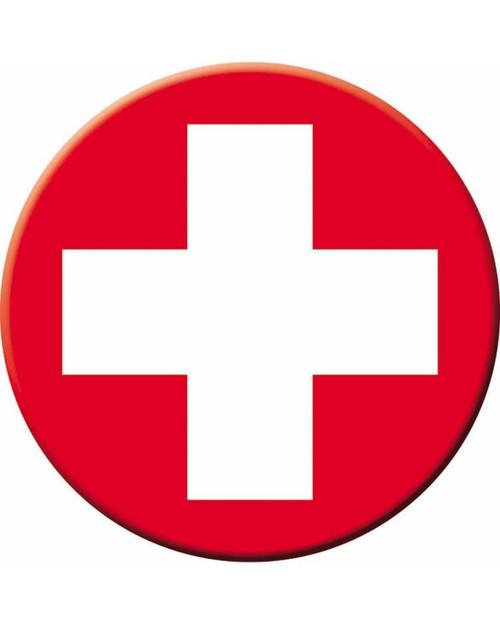 White Cross Iron On Applique Costume Emt Nurse Patch Accessory