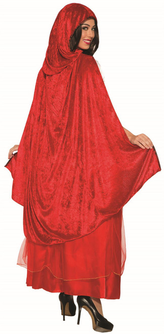 Womens Red Riding Hood Costume Halloween Cosplay Cape Dress Gown Standard