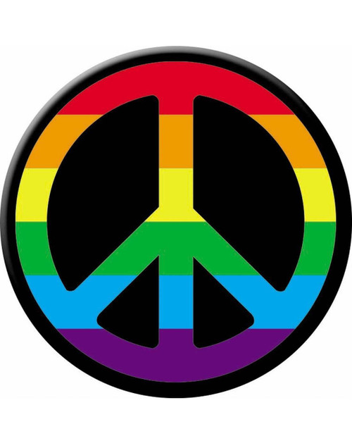 Peace Sign Iron On Applique Costume Hippie Patch Accessory