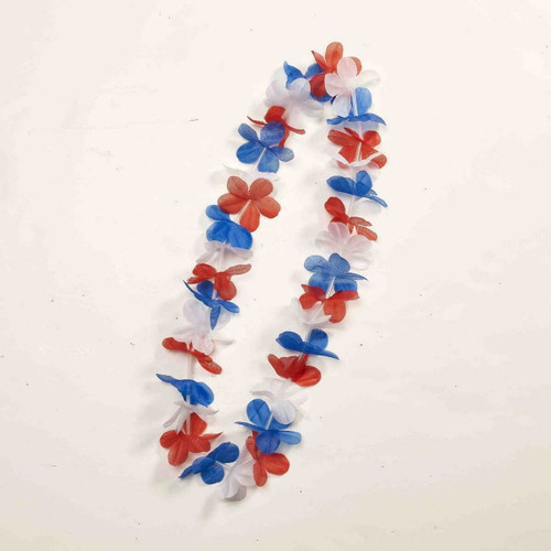 July 4Th Patriotic Red White And Blue Costume Flower Lei One Size Fits Most