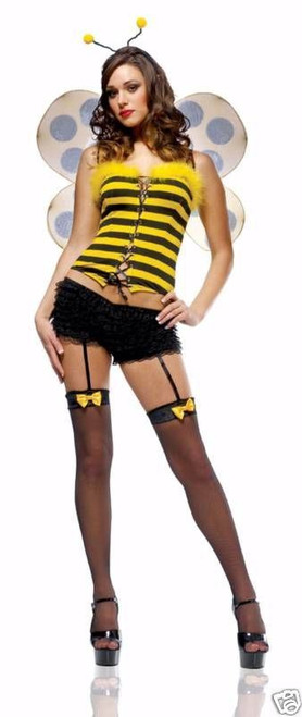 Bumblebee Sexy Women's Corset Costume