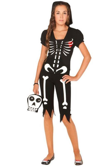 Girls Tween Skeleton Costume