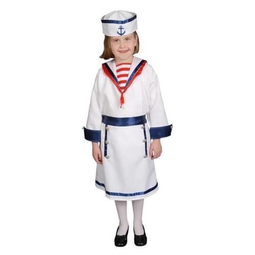 White Sailor Uniform Toddler Girls Naval Halloween Costume