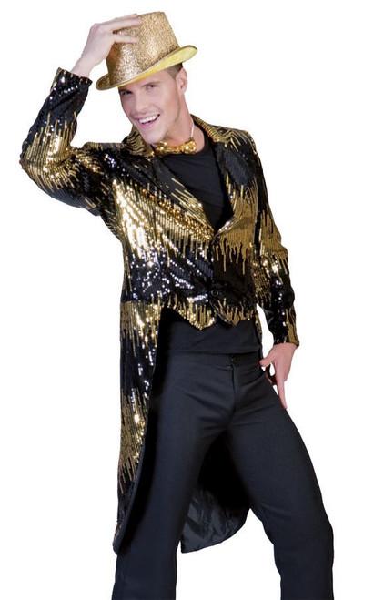 Gold Glitter Tailcoat Men's Costume